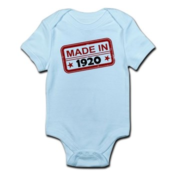 Stamped Made In 1920 Infant Bodysuit