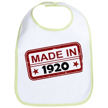 Stamped Made In 1920 Bib