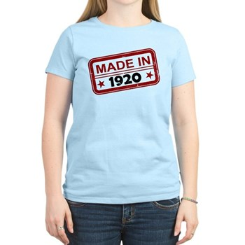 Stamped Made In 1920 Women's Light T-Shirt