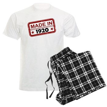 Stamped Made In 1920 Men's Light Pajamas