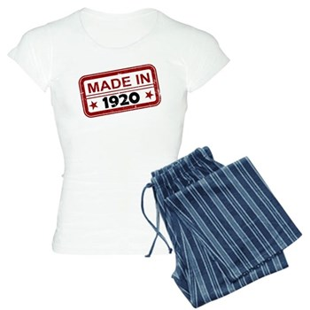 Stamped Made In 1920 Women's Light Pajamas