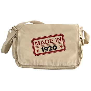 Stamped Made In 1920 Canvas Messenger Bag