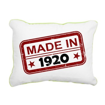 Stamped Made In 1920 Rectangular Canvas Pillow