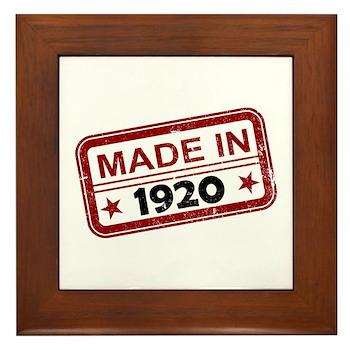 Stamped Made In 1920 Framed Tile