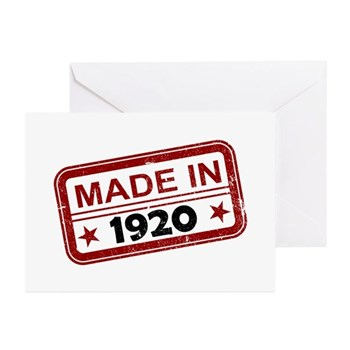 Stamped Made In 1920 Greeting Cards (20 pack)