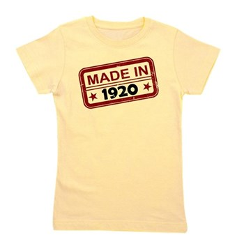 Stamped Made In 1920 Girl's Tee