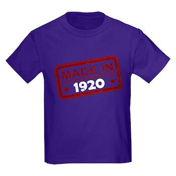 Stamped Made In 1920 Kids Dark T-Shirt