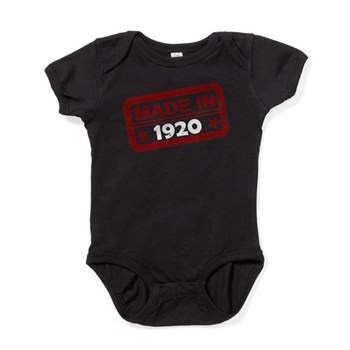 Stamped Made In 1920 Baby Bodysuit