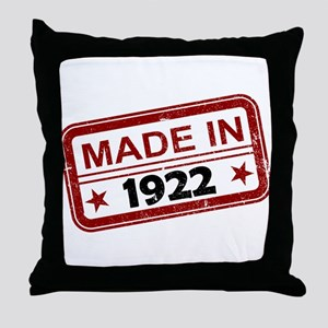 Stamped Made In 1922 Throw Pillow