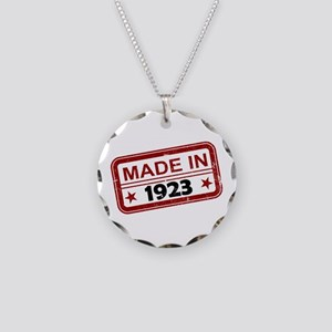 Stamped Made In 1923 Necklace Circle Charm