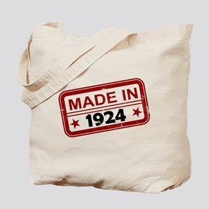Stamped Made In 1924 Tote Bag