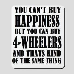 4-wheeler happiness Mousepad