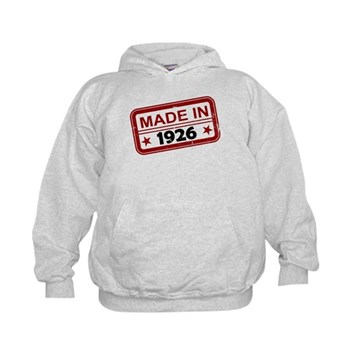Stamped Made In 1926 Kid's Hoodie