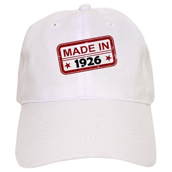Stamped Made In 1926 Cap