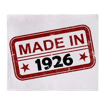 Stamped Made In 1926 Stadium Blanket