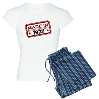 Stamped Made In 1927 Women's Light Pajamas