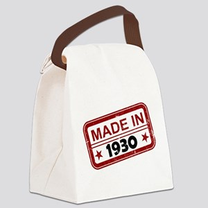 Stamped Made In 1930 Canvas Lunch Bag