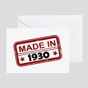 Stamped Made In 1930 Greeting Card