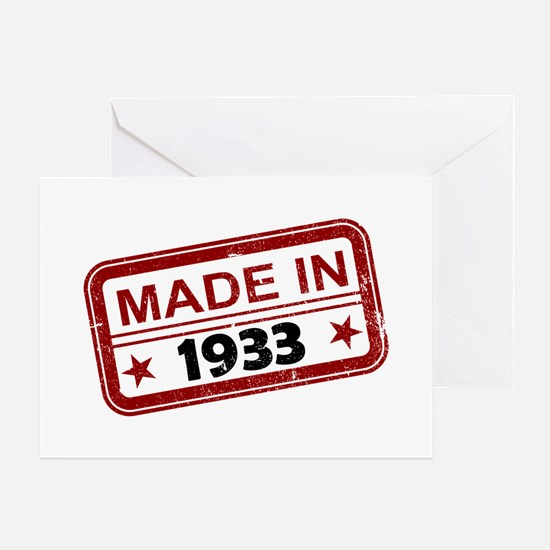 Stamped Made In 1933 Greeting Card