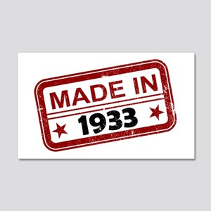 Stamped Made In 1933 22x14 Wall Peel