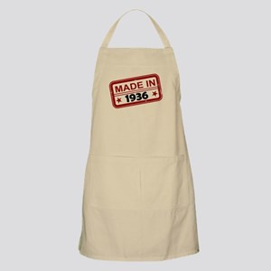 Stamped Made In 1936 Apron