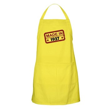 Stamped Made In 1937 Apron
