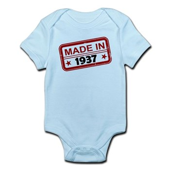 Stamped Made In 1937 Infant Bodysuit