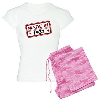 Stamped Made In 1937 Women's Light Pajamas
