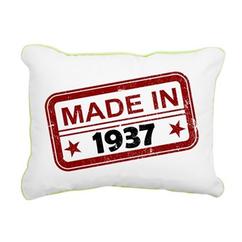 Stamped Made In 1937 Rectangular Canvas Pillow