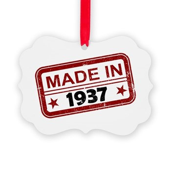 Stamped Made In 1937 Picture Ornament