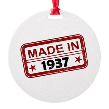 Stamped Made In 1937 Round Ornament