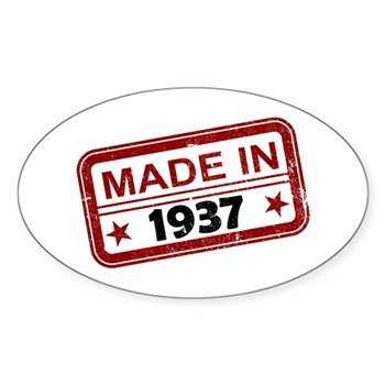 Stamped Made In 1937 Oval Sticker