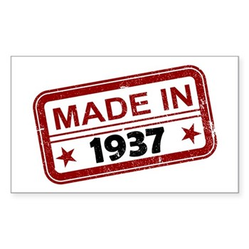 Stamped Made In 1937 Rectangle Sticker