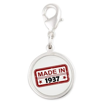 Stamped Made In 1937 Silver Round Charm