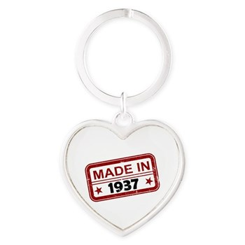 Stamped Made In 1937 Heart Keychain