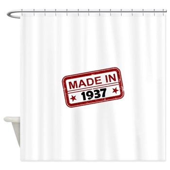 Stamped Made In 1937 Shower Curtain