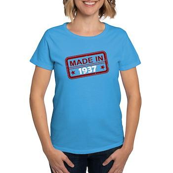 Stamped Made In 1937 Women's Dark T-Shirt
