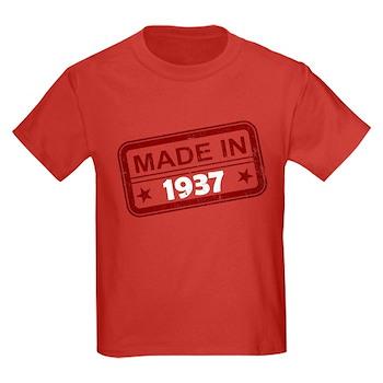 Stamped Made In 1937 Kids Dark T-Shirt