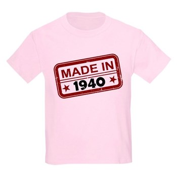 Stamped Made In 1940 Kids Light T-Shirt
