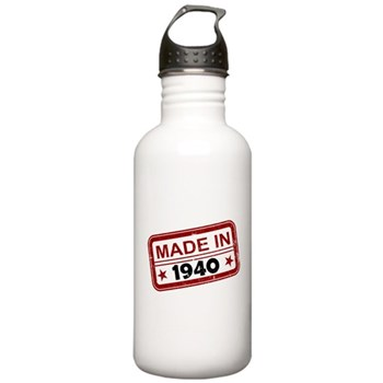 Stamped Made In 1940 Stainless Water Bottle 1.0L