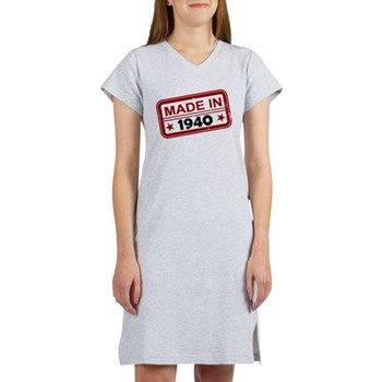 Stamped Made In 1940 Women's Nightshirt