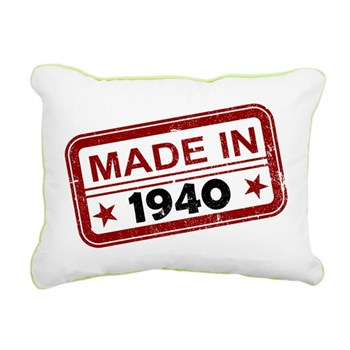 Stamped Made In 1940 Rectangular Canvas Pillow