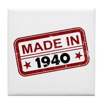 Stamped Made In 1940 Tile Coaster