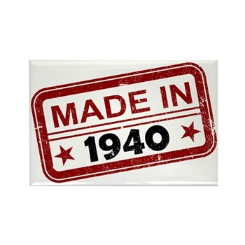 Stamped Made In 1940 Rectangle Magnet (10 pack)