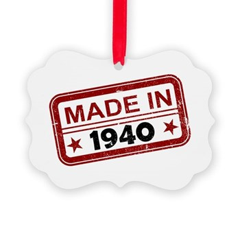 Stamped Made In 1940 Picture Ornament