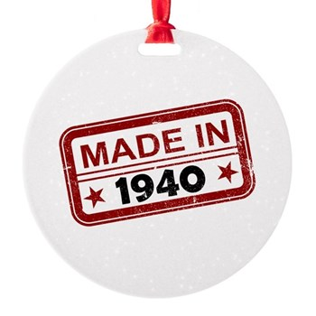 Stamped Made In 1940 Round Ornament