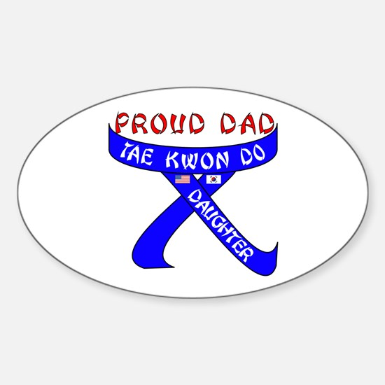 TKD Dad Daughter Oval Decal