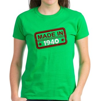 Stamped Made In 1940 Women's Dark T-Shirt