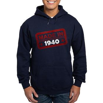 Stamped Made In 1940 Dark Hoodie