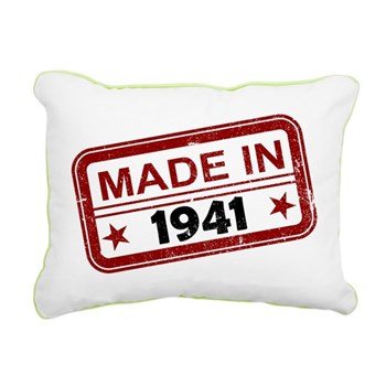 Stamped Made In 1941 Rectangular Canvas Pillow